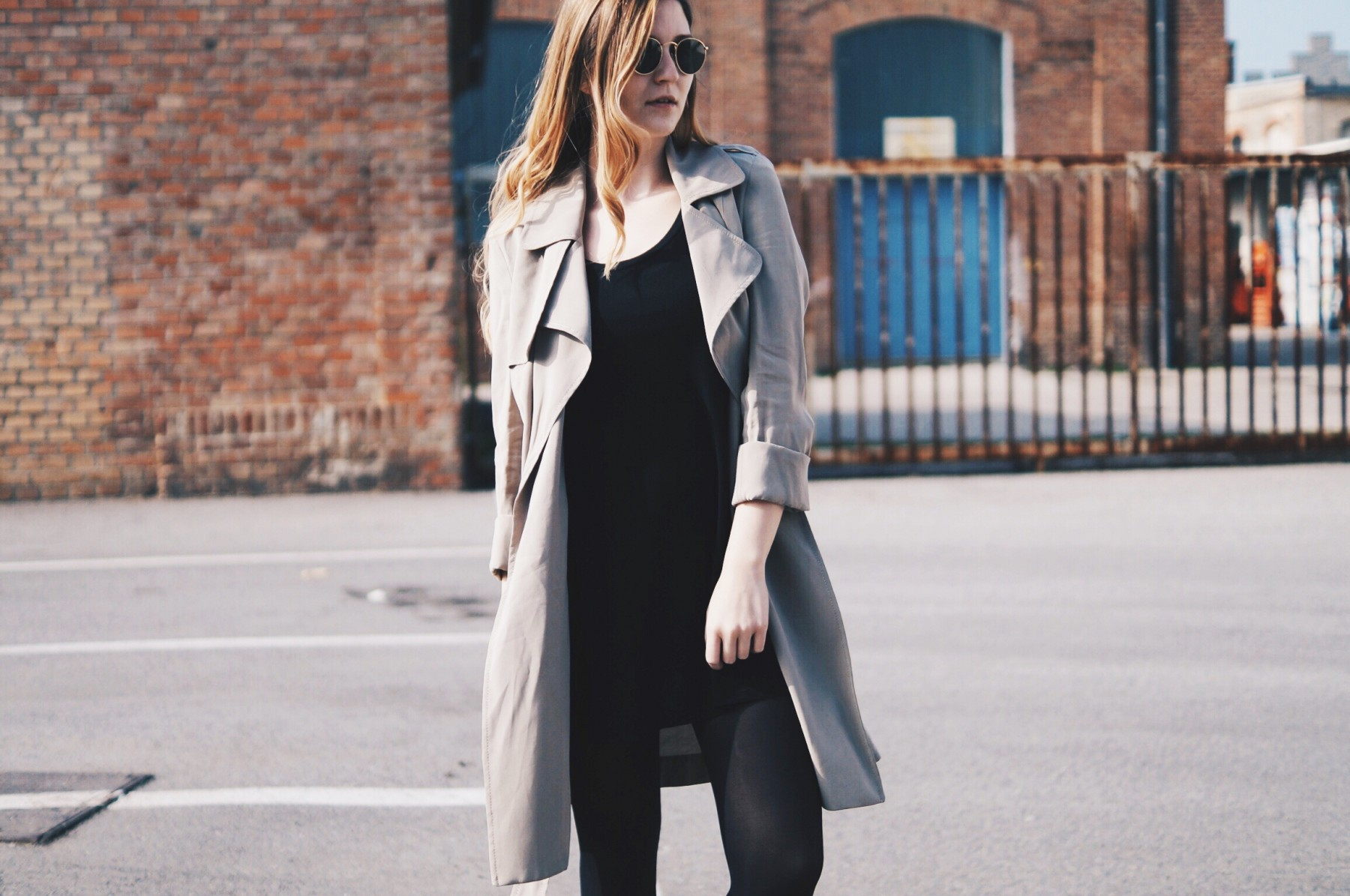 flowing trench coat 2