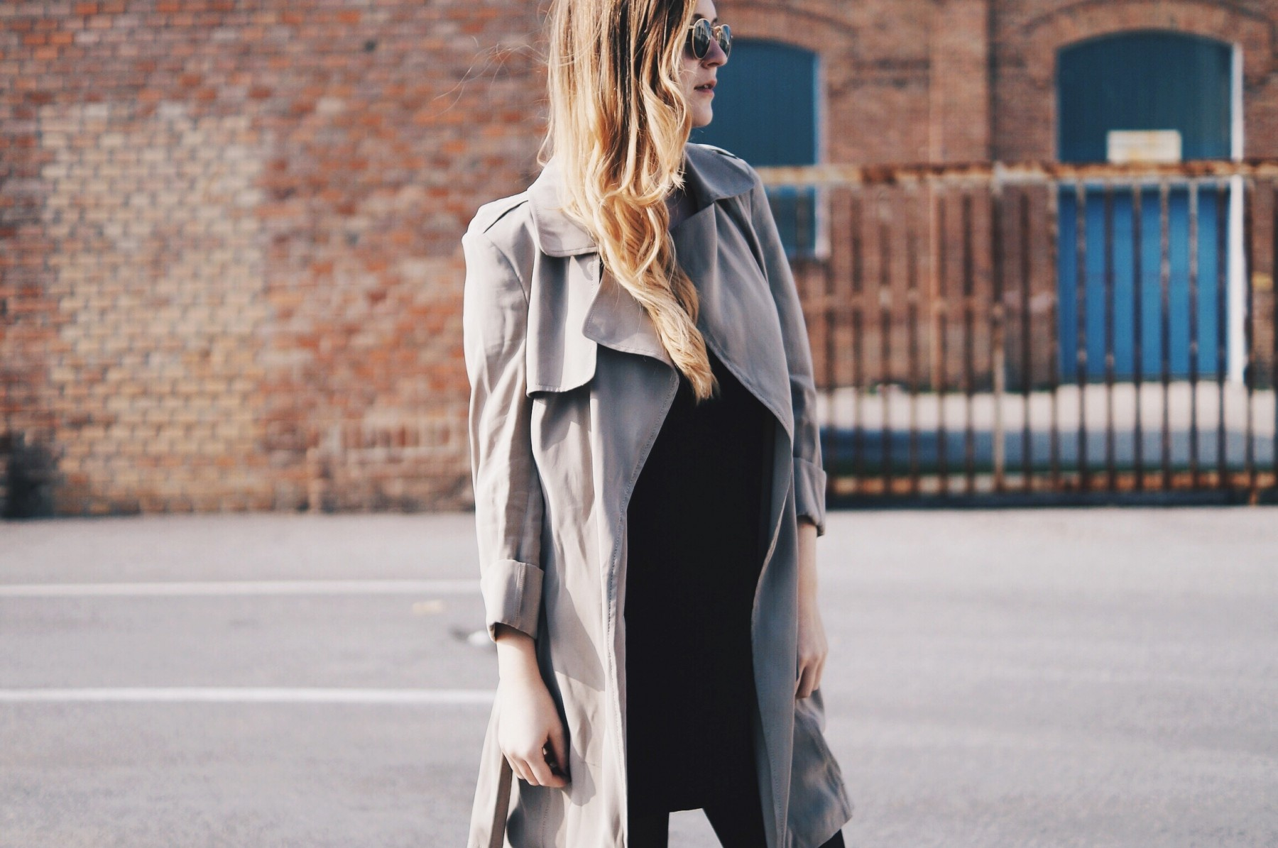 flowing trench coat 13