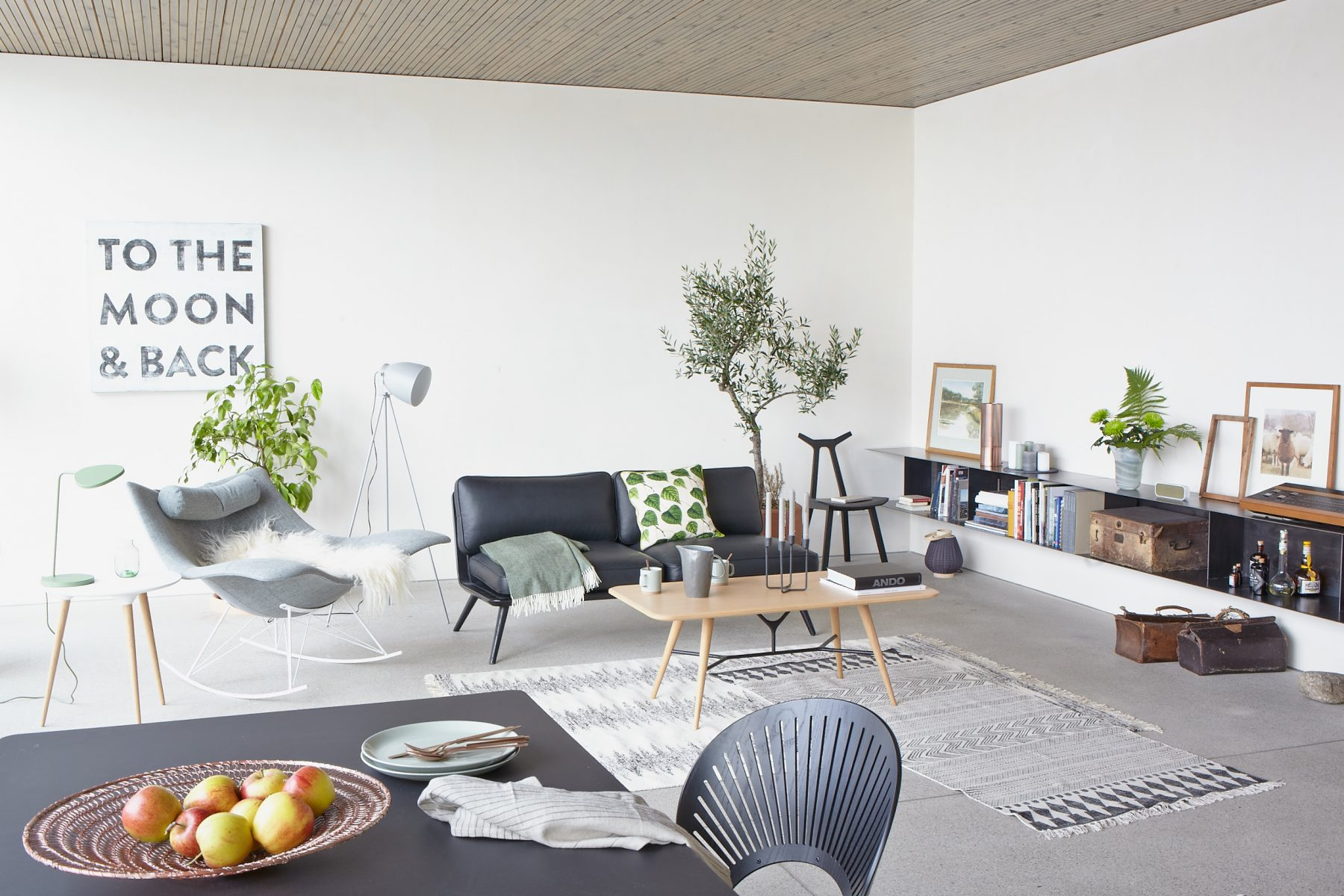 retro scandinavian interior